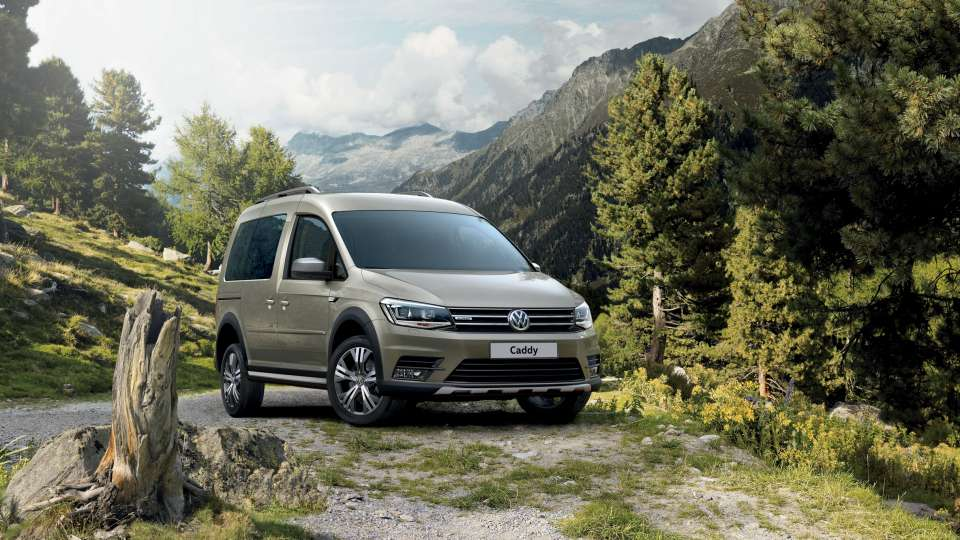 VW Caddy Trendline and Alltrack outdoor camping image